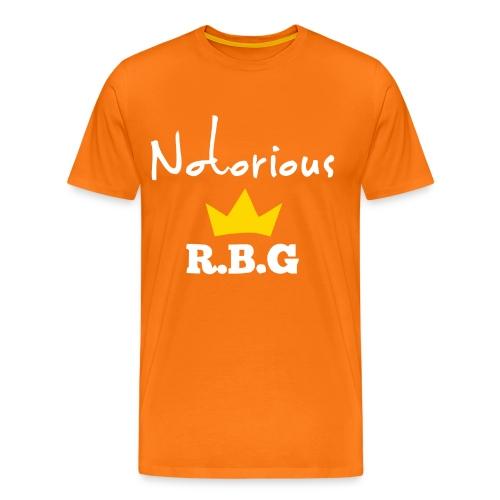 Notorious R.B.G ruth bader ginsburg shirt - Men's Premium T-Shirt
