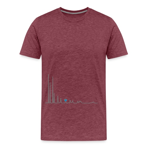 yellowibis heartchromatography vec - Men's Premium T-Shirt