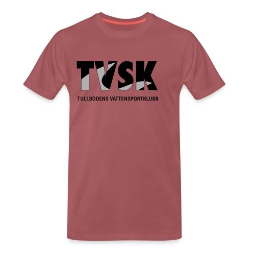 tvsk svartvit logo - Premium-T-shirt herr