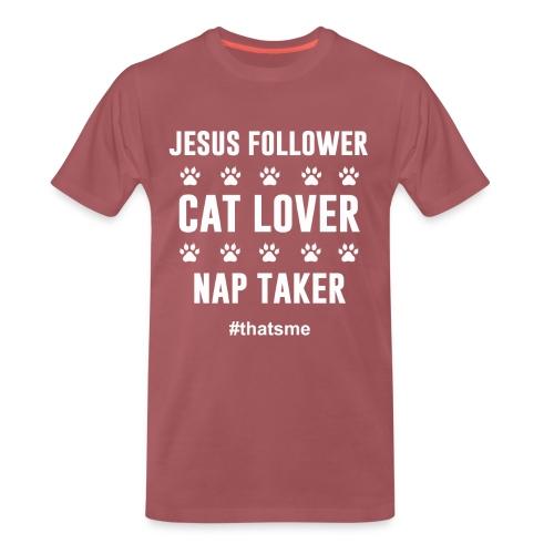 Jesus follower cat lover nap taker - Men's Premium T-Shirt