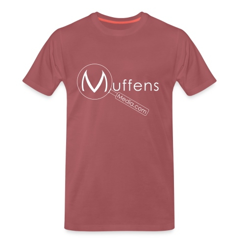 Muffens Media hvit logo - Men's Premium T-Shirt