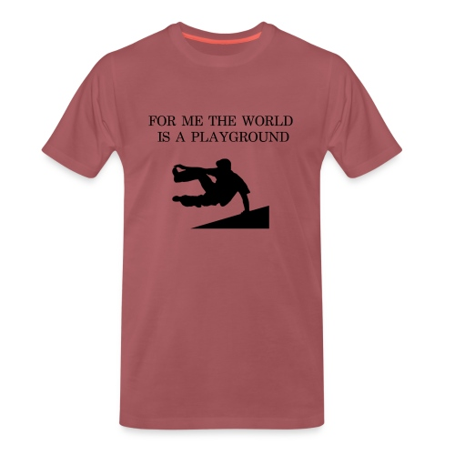 THE WORLD IS A PLAYGROUND - Premium-T-shirt herr