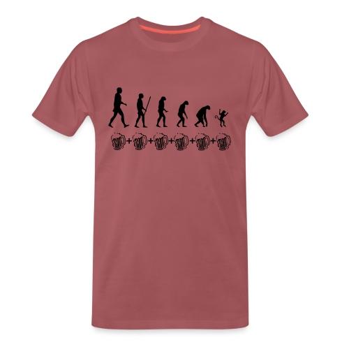 Evolution drinking - Maglietta Premium da uomo