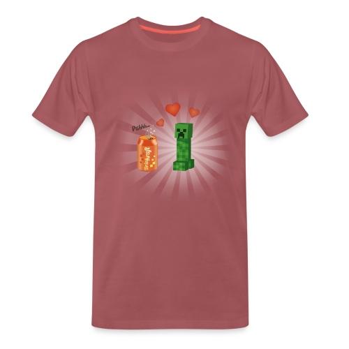 Minecraft / Creeper amoureux d'une canette - T-shirt Premium Homme