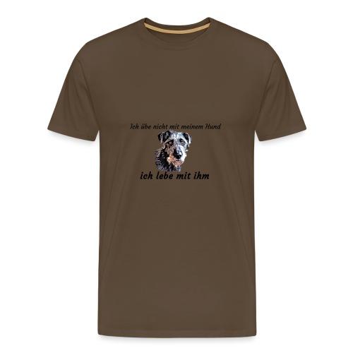 Ich lebe mit meinem Hund - Männer Premium T-Shirt