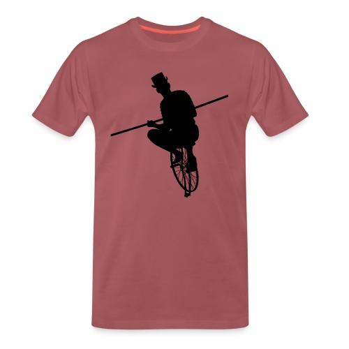 Unicycle - Premium-T-shirt herr
