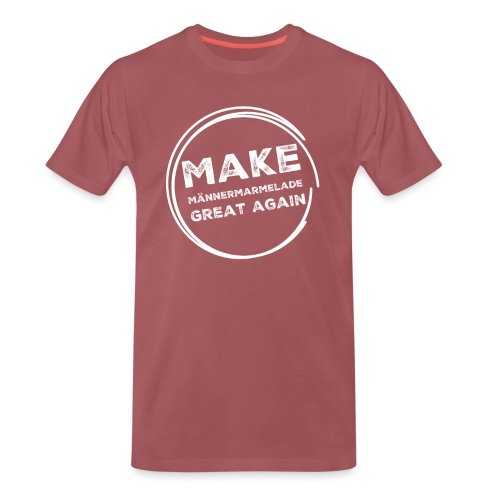 Make Männermarmelade great again - Mett, weiß - Männer Premium T-Shirt