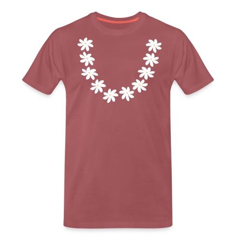 collier tiare couronne sans feuille Tahiti - T-shirt Premium Homme