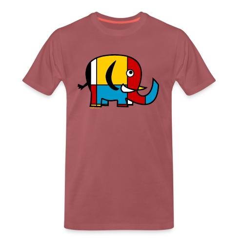 Mondrian Elephant - Men's Premium T-Shirt