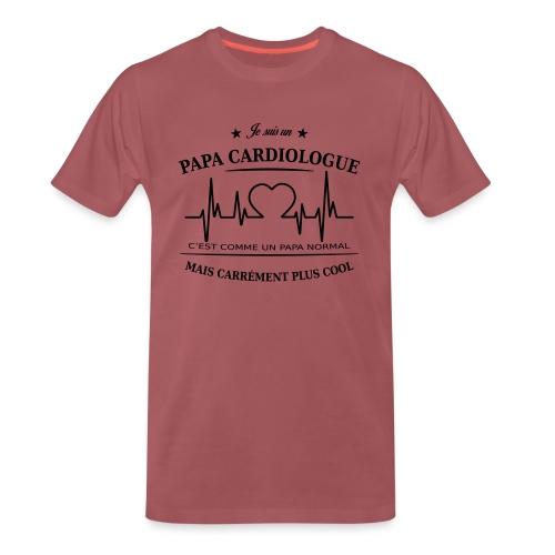 papa cardiologue - T-shirt Premium Homme