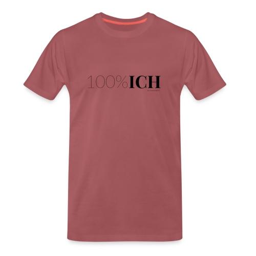 100%ICH schwarz - Männer Premium T-Shirt