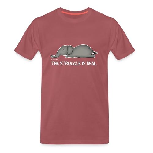 Amy's 'Struggle' design (white txt) - Men's Premium T-Shirt