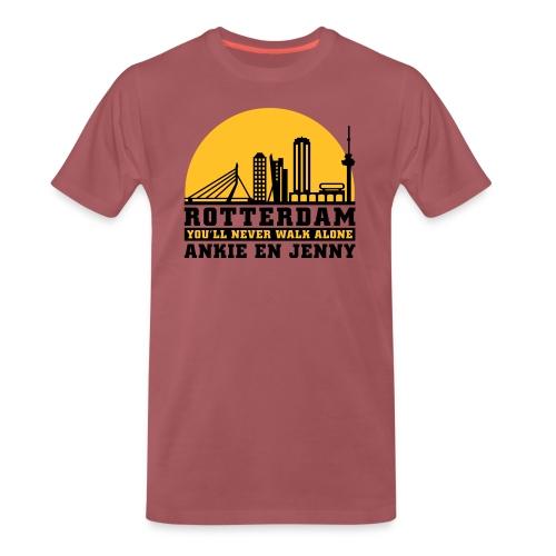 Skyline rotterdam 04 - Mannen Premium T-shirt