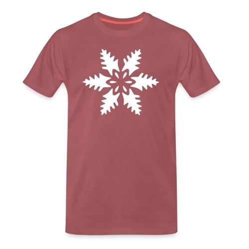 Schneeflocke Ornament Pixellamb - Männer Premium T-Shirt