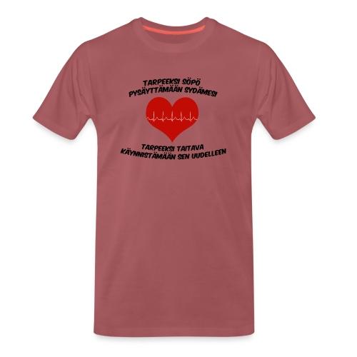 Söpö ja taitava - Miesten premium t-paita