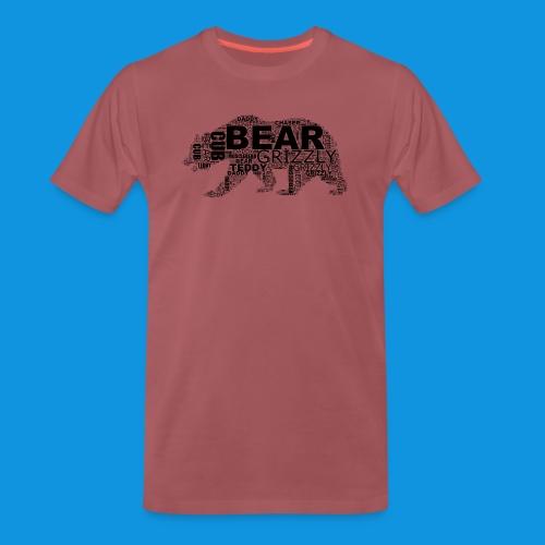 Bear Word Cloud black text - Men's Premium T-Shirt