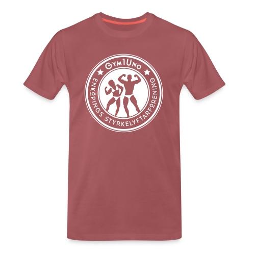 Gym1Uno_circle_Neg(ForDar - Premium-T-shirt herr