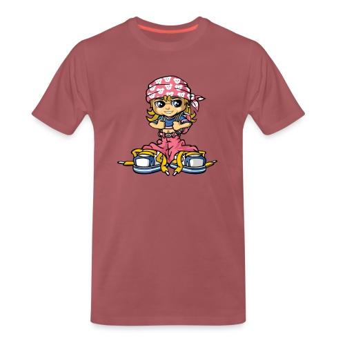 hip-hop girl and bandana - Männer Premium T-Shirt