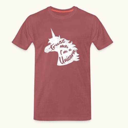 Cadeau de licorne rigolo disant calligraphie blanche - T-shirt Premium Homme
