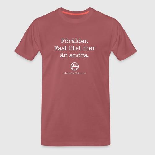 Förälder, fast litet mer än andra. Klassförälder. - Premium-T-shirt herr