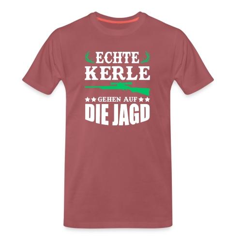 ECHTE KERLE GEHEN AUF DIE JAGD - Männer Premium T-Shirt