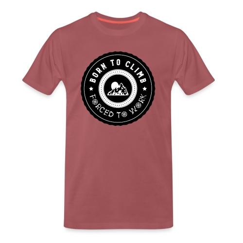 Rock Climbing - BornTo Climb - Männer Premium T-Shirt
