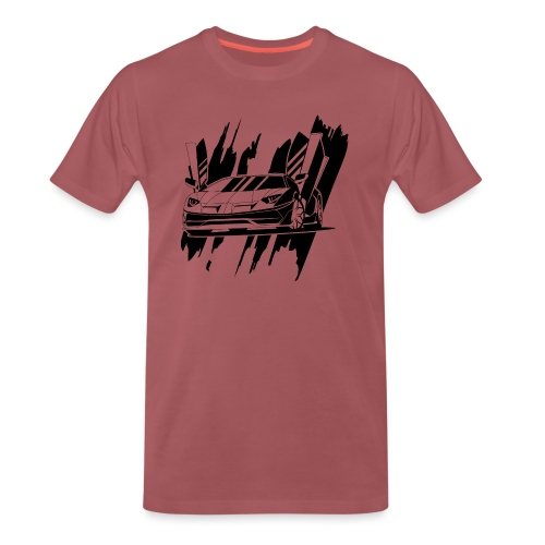 auto deportivo en negro - Camiseta premium hombre