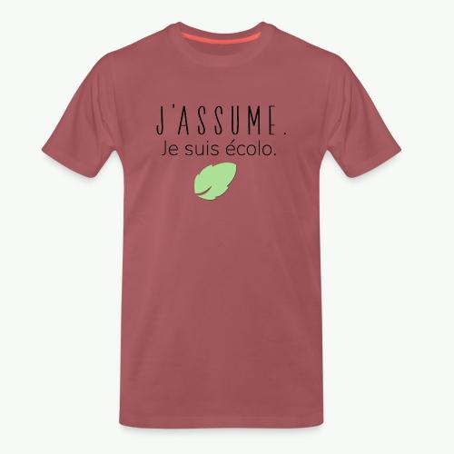 J'assume. Je suis écolo. - T-shirt Premium Homme