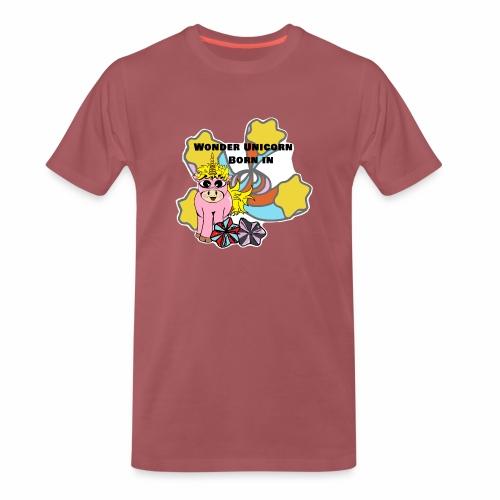 Merveilleuse Licorne née (pour fille) - T-shirt Premium Homme
