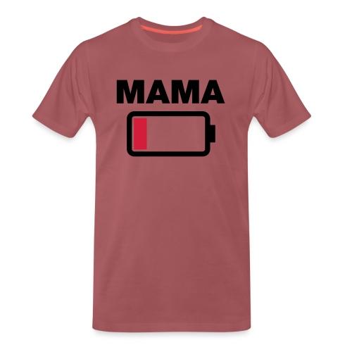Batterij mama leeg - Mannen Premium T-shirt