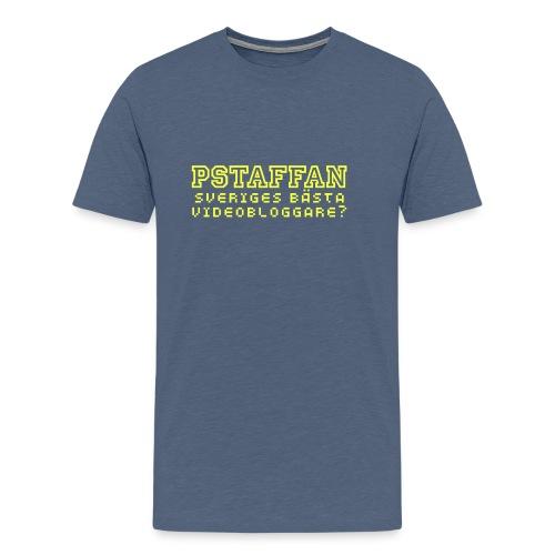 Pstaffan bästa vloggare - Premium-T-shirt herr