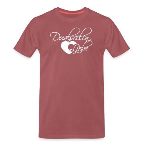 Dualseelen Liebe White - Männer Premium T-Shirt