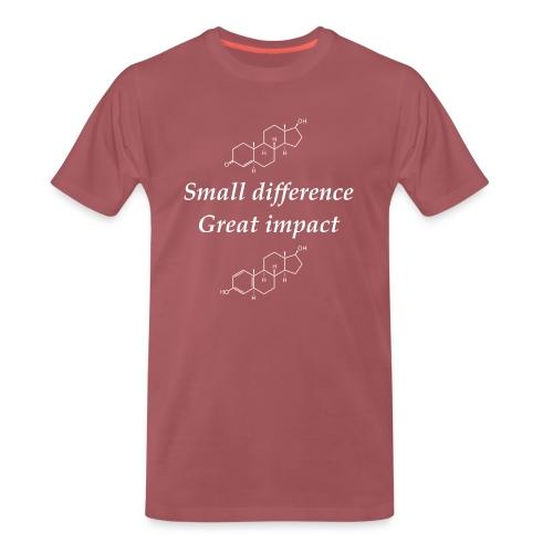 Testosterone vs Estrogen - Herre premium T-shirt