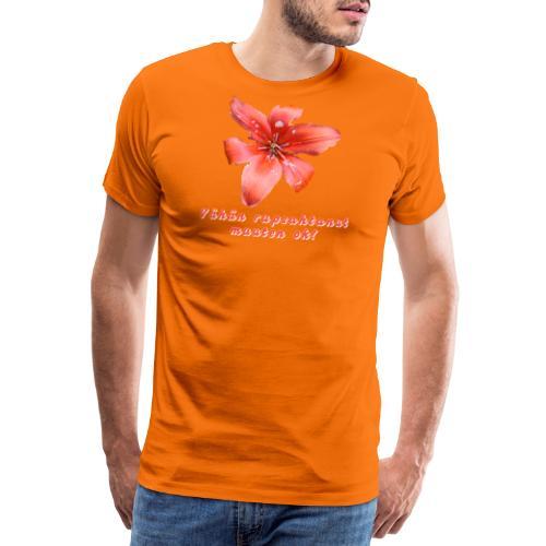 Vähän rupsahtanut, muuten ok - Miesten premium t-paita