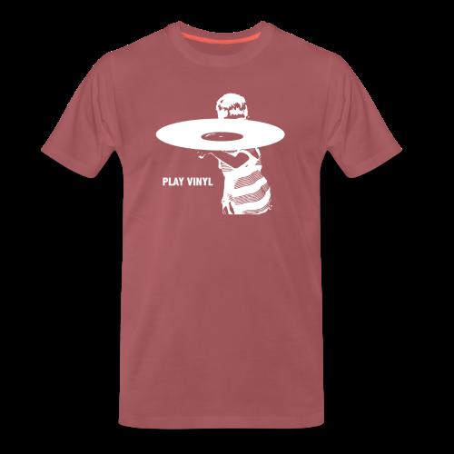 Play Vinyl (wit) - Mannen Premium T-shirt