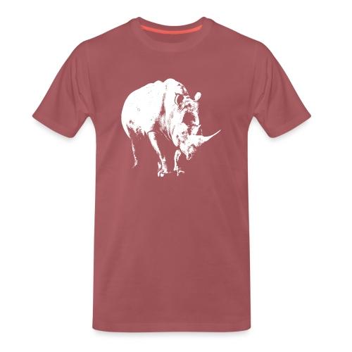 White Rhinoceros (highlights only) - Men's Premium T-Shirt