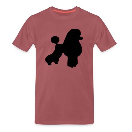 Tygkasse med pudelmotiv - Premium-T-shirt herr