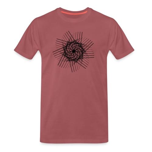 striped spiral - T-shirt Premium Homme