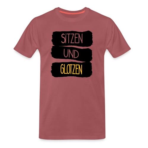 Sitzen Und Glotzen - Männer Premium T-Shirt