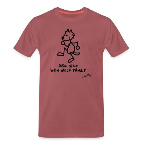 Tanzender Wolf - Männer Premium T-Shirt