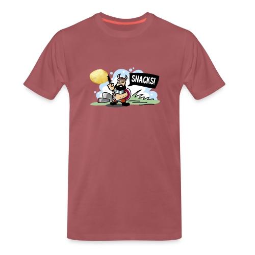 Viking Snacks - Premium T-skjorte for menn