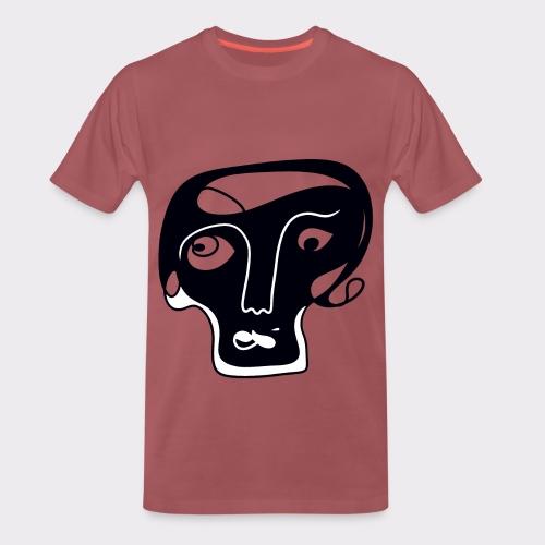 Totenkopf Blau Line Art Stil Geschenkideen - Männer Premium T-Shirt