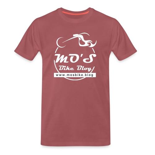Mos Bike Blog Logo, weiß - Männer Premium T-Shirt