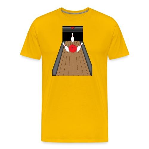 La piste de Bowling - T-shirt Premium Homme