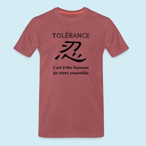 Tolérance - T-shirt Premium Homme