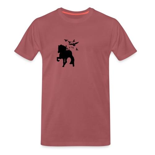 Tölter mit Vögeln - Männer Premium T-Shirt
