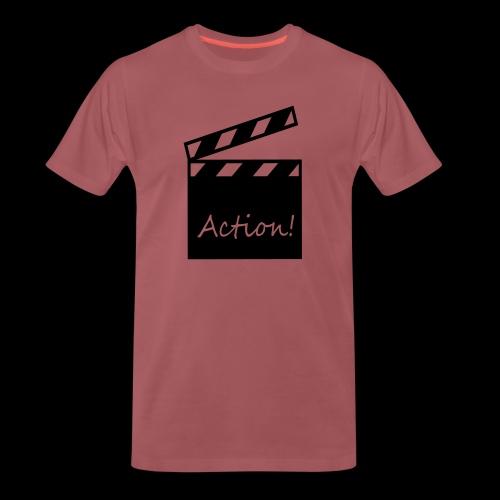 Kapuzen-Shirt aaand Action! - Männer Premium T-Shirt