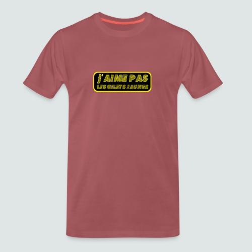 « J'aime pas les gilets jaunes » - T-shirt Premium Homme