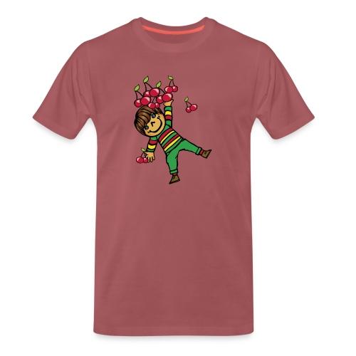 08 kinder kapuzenpullover hinten - Männer Premium T-Shirt