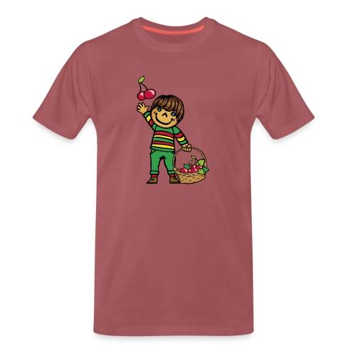 07 kinder kapuzenpullover hinten - Männer Premium T-Shirt